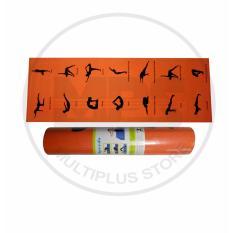 Obral Matras Yoga Speeds Uk 7Mm Motif Yoga Warna Orange Murah