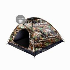 Review Tentang Maxxio Tenda Camping 3 Orang 200Cm X 150Cm Double Layered Door Motif Loreng