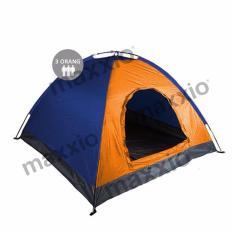 Jual Maxxio Tenda Camping 3 Orang Ukuran 200Cm X 150Cm Orange Biru Online