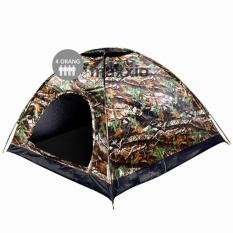 Jual Beli Maxxio Tenda Camping 4 Orang 200Cm X 200Cm Double Layer Door Motif Loreng Baru Dki Jakarta
