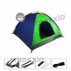 Spesifikasi Maxxio Tenda Camping 4 Orang Ukuran 200Cm X 200Cm Hijau Biru