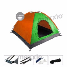 Beli Maxxio Tenda Camping 4 Orang Ukuran 200Cm X 200Cm Hijau Orange Maxxio Asli