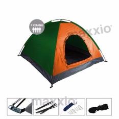 Ulasan Lengkap Maxxio Tenda Camping 4 Orang Ukuran 200Cm X 200Cm Orange Hijau