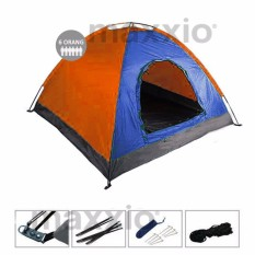 Jual Maxxio Tenda Camping 6 Orang 220Cm X 250Cm Double Layered Door Biru Orange Maxxio Online