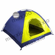 Jual Beli Maxxio Tenda Camping 6 Orang 220Cm X 250Cm Double Layered Door Kuning Biru Baru Indonesia