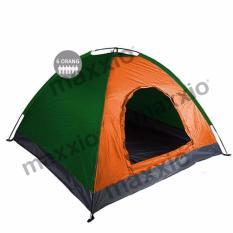Promo Maxxio Tenda Camping 6 Orang 250Cm X 220Cm Double Layered Hijau Orange Maxxio