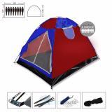 Maxxio Tenda Camping 8 Orang Ukuran 220Cm X 300Cm Biru Merah Promo Beli 1 Gratis 1