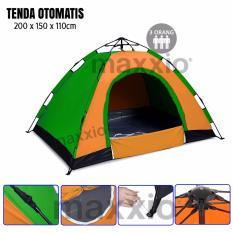 Maxxio Tenda Camping Otomatis 3 Orang Ukuran 200Cm X 150Cm Terbaru