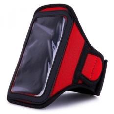 MCC Red Sweat Resistant Armband untuk LG K7/K8/K10/X Kulit/X5/X Mach /X Power/X Style/X Venture Smartphone-Intl