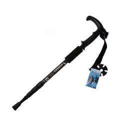 Spesifikasi Mega Hiking Walking Trekking Tiang Ultralight Adjustable Canes Hitam Bagus