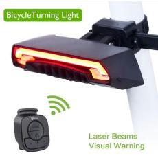 Meilan X5 Smart Rear Lampu Lampu Sepeda Sepeda Laser LED USB Rechargeable Wireless Remote Kontrol Balik Bersepeda Bycicle- INTL