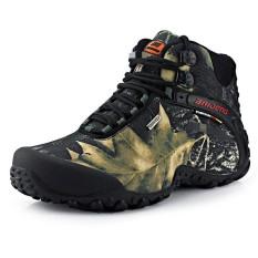 Pria Hiking Sepatu Tahan Air Outdoor Sport Sneakers Anti-skid Mendaki Gunung Trekking Sepatu Atletik Warna: Abu-abu Ukuran: 46