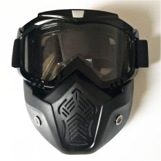 Jual Pria Wanita Luar Ruangan Fashion Goggles Masker Dilepas Harley Style Pelindung Sunglasses Oem Di Tiongkok