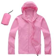 Beli Pria Wanita Cepat Kering Hiking Jaket Tahan Air Upf30 Sun Uv Perlindungan Coat Outdoor Sport Kulit Camping Clothing Warna Pink Ukuran S Intl Terbaru