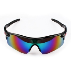 Pria Wanita Sun Kacamata Retro Cermin Vintage Gaya Shades Sport Bersepeda Goggles Kacamata Spesifikasi: Bright Black Box Hijau Film-Intl