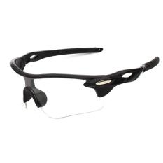 Men Women Sun Glasses Retro Mirror Vintage Style Shades Sport Cycling Goggles Glasses Specification:Bright black box white - intl