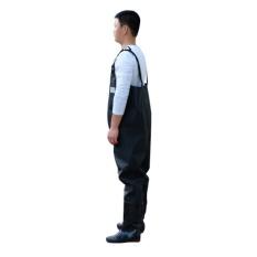 Jual Pria Insulatif Waterproof Pvc Black Waders Dada Dengan Karet Bootfoot Untuk Memancing Berburu 42 Yard Intl Oem Murah