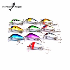 Review Tentang Mermaidknight 10 Pcs Lot Top Plastic Fishing Lures 3 Cm 1 5G Mini Fishing Bait 10 Hook 10 Warna Fishing Tackle Intl