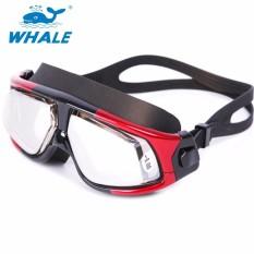Reksa Dana Prescription Optik Myopia Renang Kacamata Olahraga Tahan Bocor Designanti-Kabut UV Perlindungan untuk Berenang Di Luar Ruangan (Resep: Kiri: 2.0 Kanan: 4.5 Diopters)-Internasional