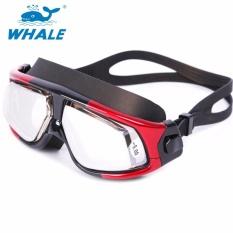 Reksa Dana Prescription Optik Myopia Renang Kacamata Olahraga Tahan Bocor Designanti-Kabut UV Perlindungan untuk Berenang Di Luar Ruangan (Resep: Kanan: 2.5 Kiri: 5.5 Diopters)-Internasional