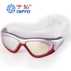 MF Promotion!Swimming Goggles, Colorful, Plated Genuine, Large Frame Waterproof, Anti Fog Swimming Glasses, Male / Female Models