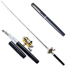 Mini Fishing Rod Pena Pulpen Pancing Joran Portable 1M Pen Mancing Original