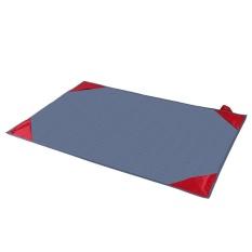 Mini Ukuran Saku Dilipat Beach Picnic Blanket Rug Waterproof Outdoor MAT (150x100 Cm, Abu-abu + Merah)-Intl