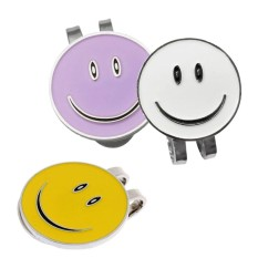 Miracle Bersinar 3 Pcs Smiley Wajah Golf Bola Marker Dengan Magnetik Topi Klip-Internasional By Miracle Shining.