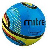 Review Mitre Beach Soccer Training Ball Bola Soccer Pantai 10P Nomor 5 Biru Kuning