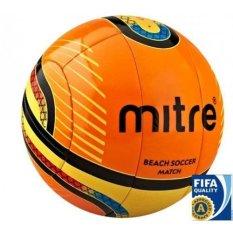 Jual Mitre Bola Soccer Pantai 10P Nomor 5 Bola Tanding Orange Kuning Termurah