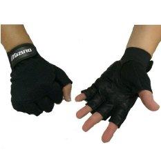 Harga Mizuno Sarung Tangan Olahraga Fitnes Gloves Gym Unisex Hitam Asli Mizuno