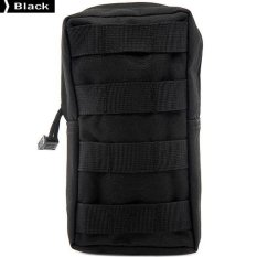 Molle Sistem Ripstop Outdoor Puing-puing Admission Bag Army Penggemar Pouch Paket (Hitam)