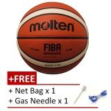 Jual Molten Bgg7X Gg7X Fiba Approved Composite Leather Basketball Free Gas Needls And Net Bag Intl Tiongkok Murah