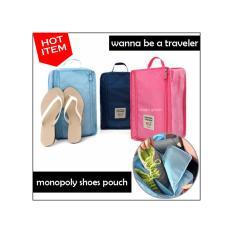 Monopoly Shoes Pouch Traveler / Tas Sepatu Olahraga Wisata Besar -GN61