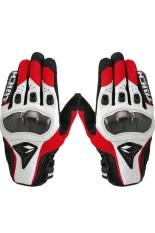 Moonar RS Taichi Secara Kulit Sarung Tangan Sepeda Motor Merah/Putih