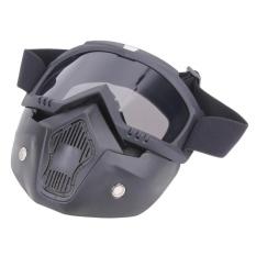 Beli Motor Kacamata Dilepas Harley Melindungi Padding Penuh Masker Perak Online Murah