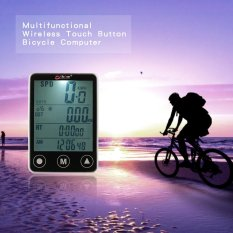 Jual Multifunctional Wireless Touch Button Lcd Bicycle Computer Odometer Speedometer Intl Baru