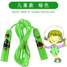 MYSPORTS Free shipping child skipping kindergarten elementary school sports parentchild plastic adjustable single jump rope. com days catGreen
