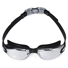 Jual Mystyle Coating Mirrored Sportswear Anti Kabut Anti Sinar Uv Tahan Air Unisex Swimming Goggles Hitam Mystyle Di Indonesia