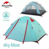 Harga Naturehike Tenda Tiang Aluminium Outdoor 2 Orang Double Layer Waterproof Wind Stopper Camping Tent Set Intl New