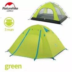 Spesifikasi Naturehike Tenda Tiang Aluminium Outdoor 3 Orang Double Layer Waterproof Wind Stopper Camping Tent Set Intl Yang Bagus Dan Murah