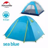 Harga Naturehike Tenda Tiang Aluminium Outdoor 4 Orang Double Layer Waterproof Wind Stopper Camping Tent Set Intl Terbaru