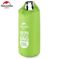 Naturehike Multifungsi Tas Tahan Air 25 Liter Hijau International Tiongkok Diskon 50