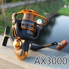 NBS Logam Line Cup AX500-9000 Seri Spul Superior Rasio 5.5: 1 12 + 1B Reel Baitcasting Spinning Reel (AX3000)-Intl