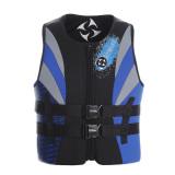 Harga Neoprene Kain Pria Dewasa Wanita Jaket Pelampung Renang Mengapung Perahu Ski Rompi Busa Biru Internasional Termurah