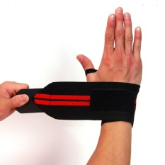 Baru 1 PC Gym Pelatihan Angkat Besi Sarung Tangan Angkat Beban Bar Barbel Pegangan Tali Membungkus