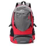 Toko Jual New 35L Men Women Backpack Sch**l Hiking Travel Fashion Sport Hiking Laptop Bag Red Intl