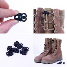 New Black Sports Shoelace Stopper Rope Adjustable Buckle Paracord Cord - intl