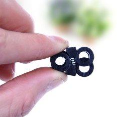 New Black Sports Tali Sepatu Stopper Tali Adjustable Buckle Paracord Cord Supplies-Intl