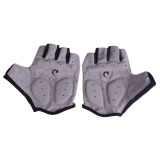 Spesifikasi New Cycling Bicycle Motorcycle Sport Gel Half Finger Gloves Gray Size M Yang Bagus Dan Murah